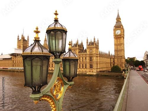plakat Lantern With Big Ben In Background