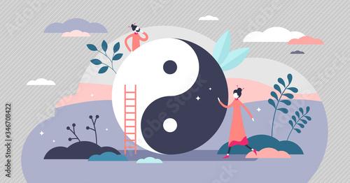 Yin and yang vector illustration Canvas Print