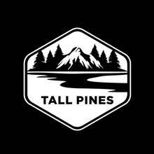 The Pine Mountain Logo In The Middle Of The Lake
