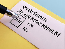 One Person Is Answering Quetion About Credit Crunch.