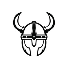 Viking Helmet Logo Vector Masc...