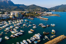 Aerial View Of Hong Kong Yach...