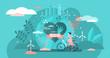 Eco friendly, tiny person concept vector illustration