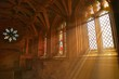 Leinwandbild Motiv Sunlight Streaming Through Church Window