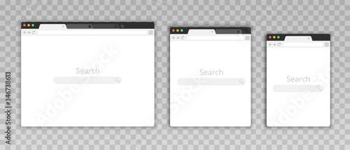 Foto Simple browser window in a flat style