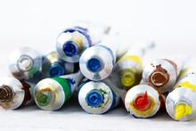 Artist Oil Paint Tubes In Vari...