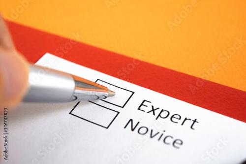 Expert or Novice? Expert. Canvas Print