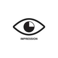 IMPRESSION ICON , OPINION ICON...