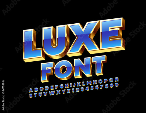 Vector Luxury 3D Font Canvas-taulu