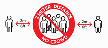 Vector Of No Crowd Sign, Keep ...