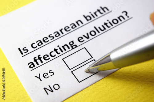 Is caesarean birth affecting evolution? Yes or no? Canvas Print