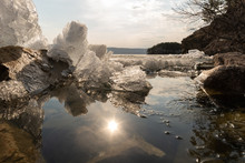 Spring Melting Of Ice In The L...