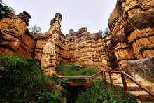 Pha Chor The Natural Phenomenon Of Eroded Soil Pillars Located In Mae Wang National Park, Doi Lo District, Chiang Mai, Thailand