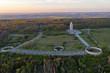 Luftbildaufnahmen Nationale Mahn- und Gedenkstätte Buchenwald mit Glockenturm bei Weimar