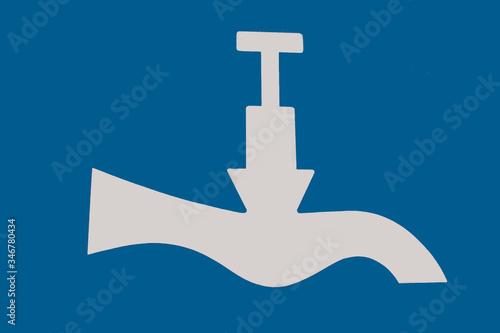 Panneau indicateur eau potable Tablou Canvas