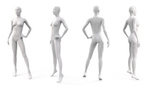 White Plastic Female Mannequin...