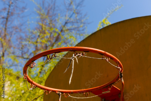 Old basketball backboard. Postidustrial concept. Canvas Print
