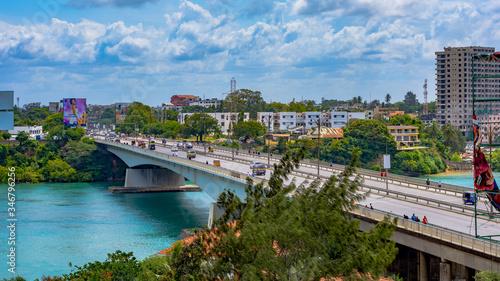 Fotografia New Nyali Bridge in Mombasa, Kenya