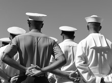 US Navy Sailors From The Back....