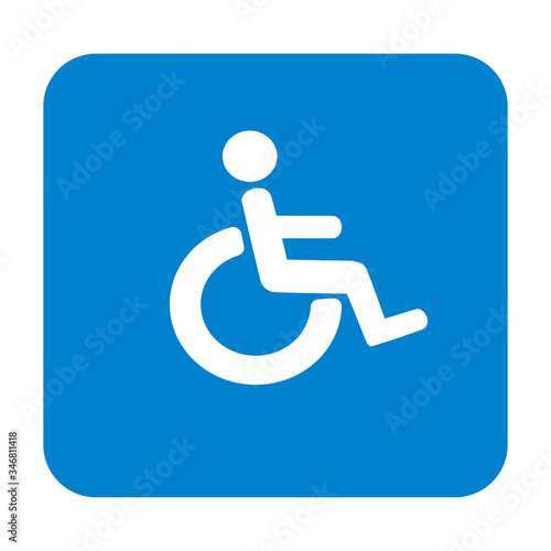 Wheelchair, handicapped or accessibility parking or access sign vector icon Wallpaper Mural
