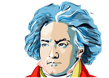 Colored Portrait Of Ludwig Van Beethoven