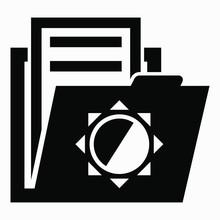 Folder And Sun Icon. Meteorolo...