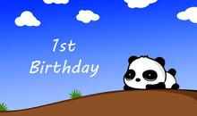 First Birthday Baby Panda Cute...