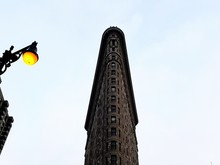 Low Angle View Of Flatiron Building In New York