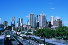 Brisbane City, Australia. Vint...