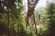 Low Angle View Of Railway Brid...