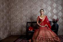 Beautiful Indian Bride Wearing Traditional Indian Bridal Dress