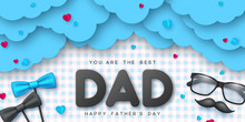 Happy Fathers Day Typographic ...