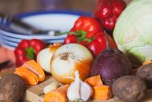 Vegetable Still Life. Onions, ...