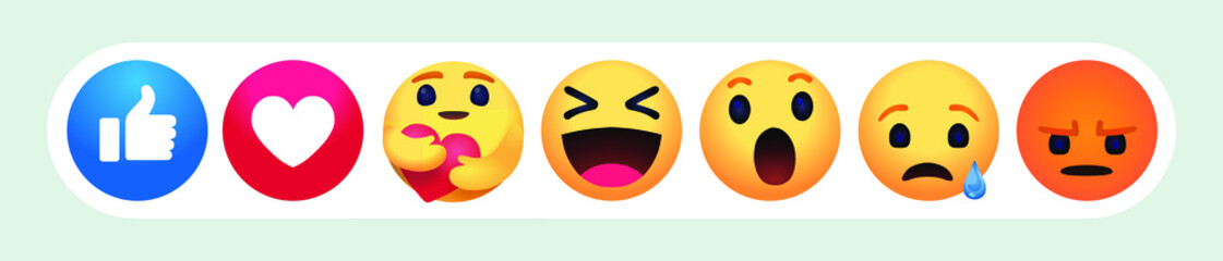 new care emoji  high quality Facebook chat comment reactions