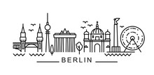 City Of Berlin In Outline Styl...