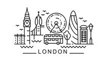 City Of London In Outline Styl...