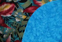 Fondo Con Texturas Azules Y Mo...
