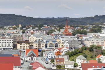 Haugesund, ville portuaire en Norvège