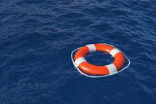A Lifebuoy In The Ocean, 3D Render