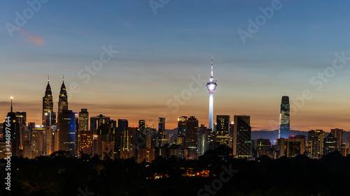 Panorama of Kuala Lumpur Skyline Malaysia Wallpaper Mural