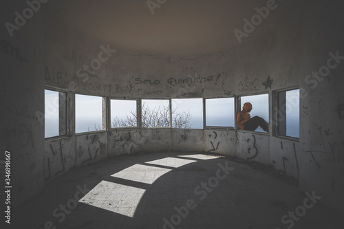 depressed man, social problems, vandalism, depression, adolescence Wallpaper Mural