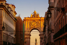 The Rua Augusta Arch Seen From...