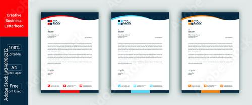 Professional Letterhead Template Modern Business Letterhead Design Template Canvas Print