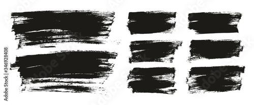 Fotografía Flat Paint Brush Thin Long & Short Background Mix High Detail Abstract Vector Ba