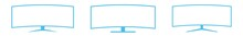 Screen Curved Icon Blue   Moni...