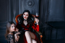 Sexy Gothic Woman Vampire Evil...