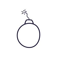 Bomb Line Style Iconvector Des...