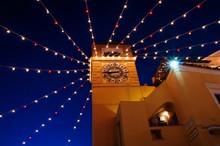 Low Angle View Of Lighting Dec...