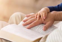 Grandpa Reading To Baby Boy Fr...