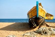 Ghana, Keta, Old Fishing Boat ...